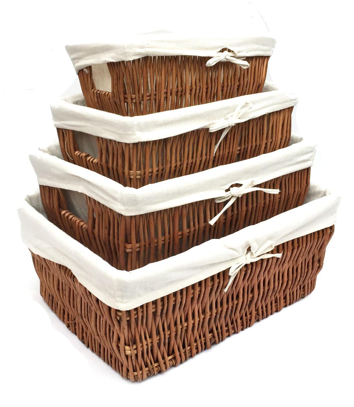 Wider Large Wicker Kitchen Handle Lined Storage Basket Empty Hamper Wbk1rob
